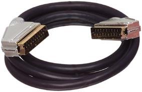 Scart Kabel Verguld - Op=Op