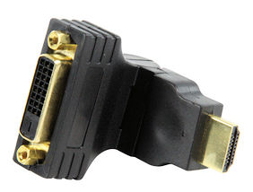 Draaibaar HDMI - DVI verloopje