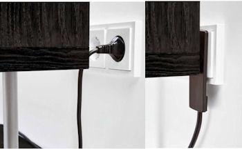 Platte Stekker met kabel - Zwa