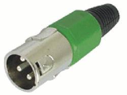 XLR Plug 3polig Male Groen
