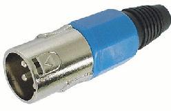 XLR Plug 3polig Male Blauw