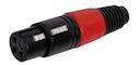 XLR Plug 3polig Female Rood