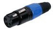 XLR Plug 3polig Female Blauw