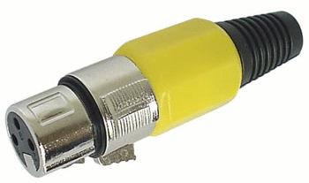 XLR Plug 3polig Female Geel