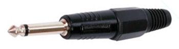 Jack Plug 6,3mm mono Zwart