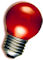 LED Kogellamp - E27 - Rood