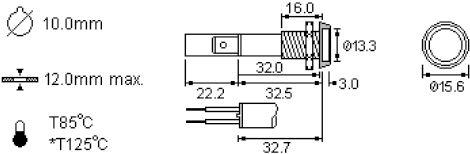 Signaallampje - 230V - Groen