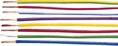 1m Oranje Kabel 1,5mm2