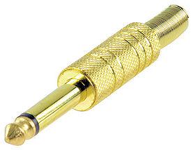 Vergulde Jackplug 6,3mm