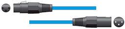 XLR Microfoonkabel 1,5m Blauw