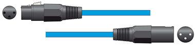 XLR Microfoonkabel 3,0m Blauw