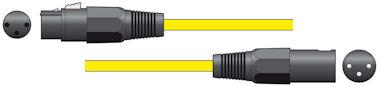 XLR Microfoonkabel 1,5m Geel