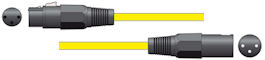 XLR Microfoonkabel 12m Geel