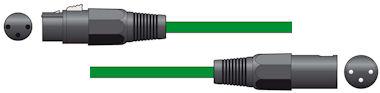XLR Microfoonkabel 3,0m Groen