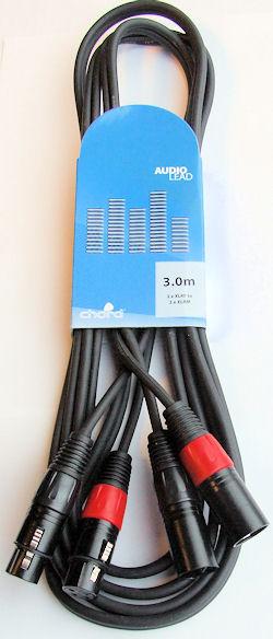 Signaalkabel XLR - XLR 0,75m