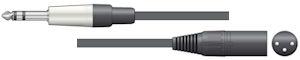 Stereo Jack - XLR Kabel 12m
