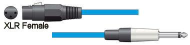 Microfoonkabel - Blauw - 6,0m