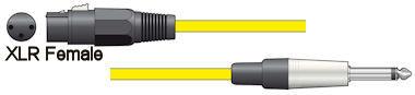 Microfoonkabel - Geel - 12m