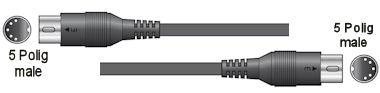 Midi Kabel - 0,75m