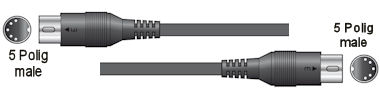 Midi Kabel - 6,0m - Nog 1x!!