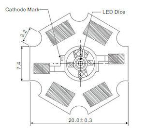 3 Watt Power LED - Rood
