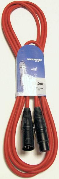 XLR Microfoonkabel 6,0m Rood
