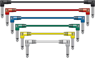 6 Jack Patch Kabels 15cm Mono