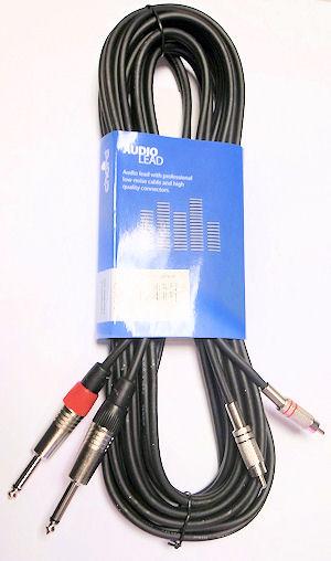 Dubbele Jack - Tulp Kabel 3,0m