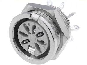 DIN Plug - 7p Chassisdeel