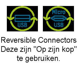 USB A<> USB Micro-B Reversible