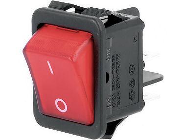 Wipschakelaar - 2 polig - Rood