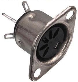 DIN Plug - 5 Polig Chassisdeel