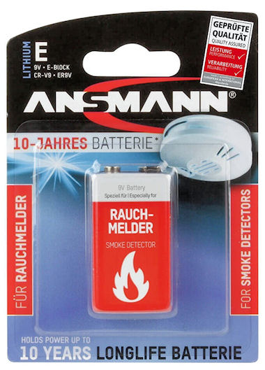 Lithium Rookmelder Batterij