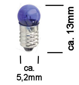Modelbouw Lampje 3,5V Blauw